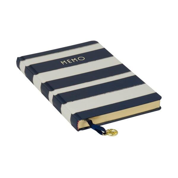Modrý zápisník Tri-Coastal Design Navy Blush