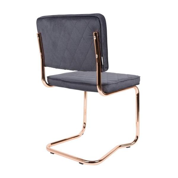 Sada 2 šedých židlí Zuiver Diamond Kink