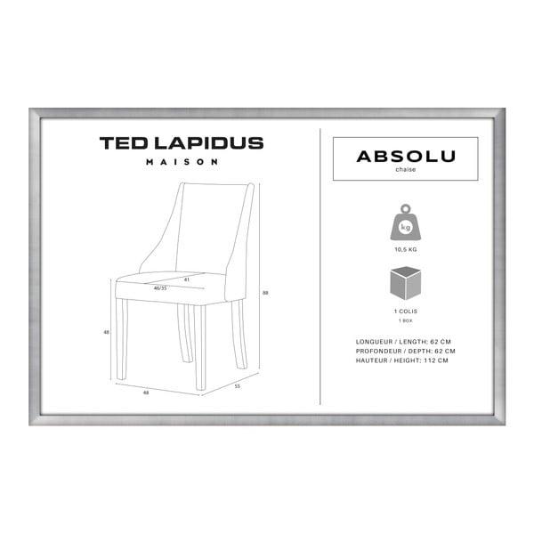 Světle růžová židle s tmavě hnědými nohami z bukového dřeva Ted Lapidus Maison Absolu