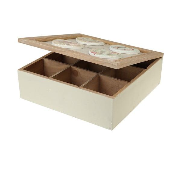 Dřevěná krabička Home, bílá