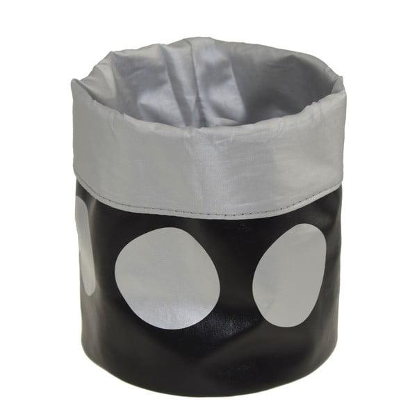 Úložný košík Dots Black, 22 cm