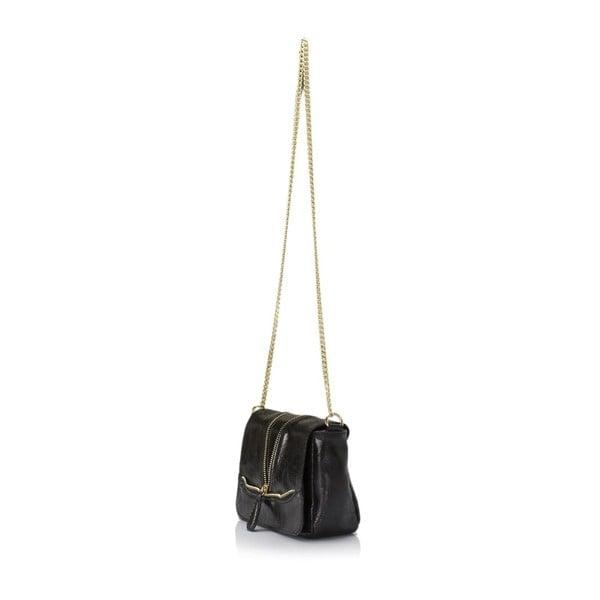 Kožená kabelka Giulia Massari 143 Black