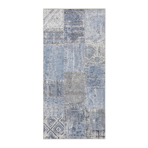 Modrý koberec Elle Decor Pleasure Denain, 200 x 290 cm
