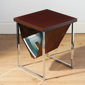 Stolek End Table Mahagony Magazine Holder