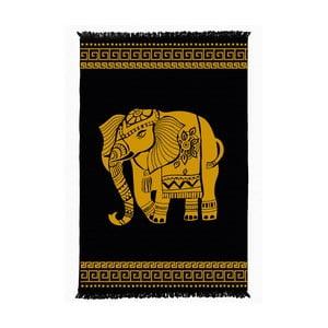 Černo-žlutý oboustranný koberec Elephant, 160x250cm