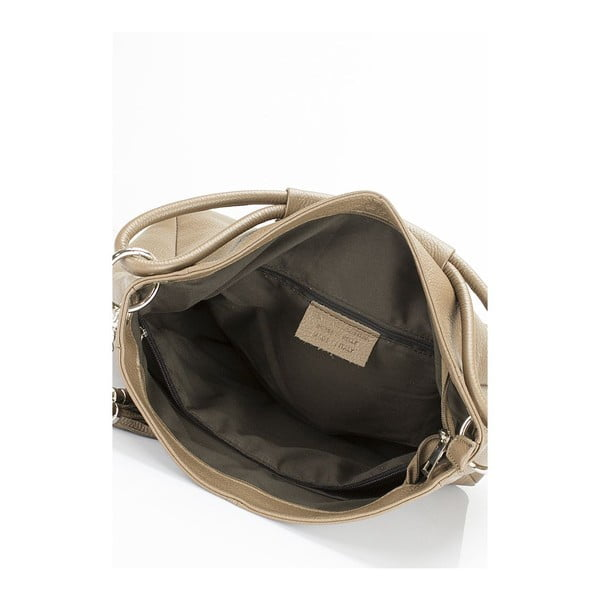 Béžová kožená kabelka Markese 5008 Fango