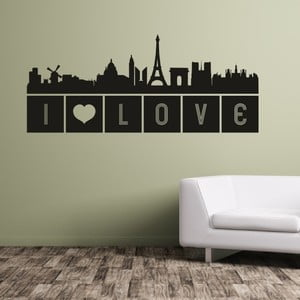 Samolepka na stěnu Paris I love