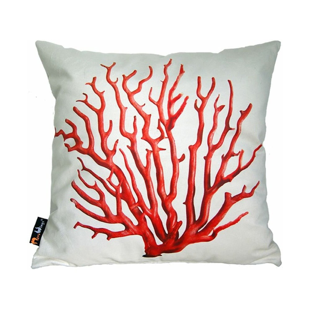 pol t merowings red coral on cream bonami. Black Bedroom Furniture Sets. Home Design Ideas