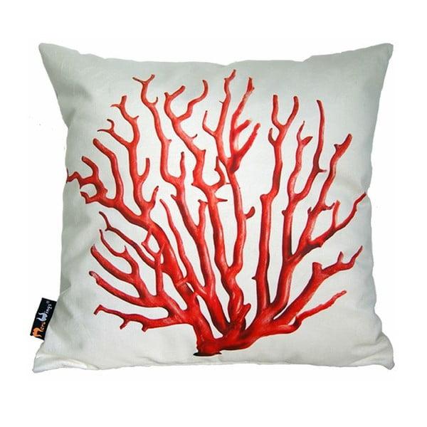 Polštář Merowings Red Coral on Cream, 45x45cm