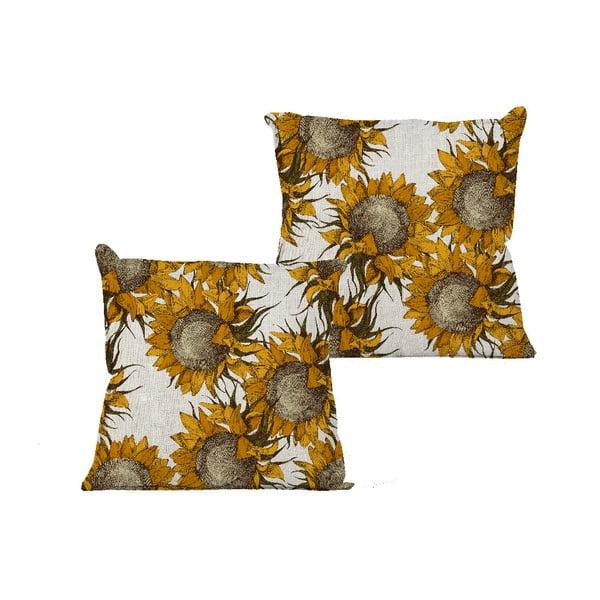 Față de pernă Linen Sunflower, 45 x 45 cm