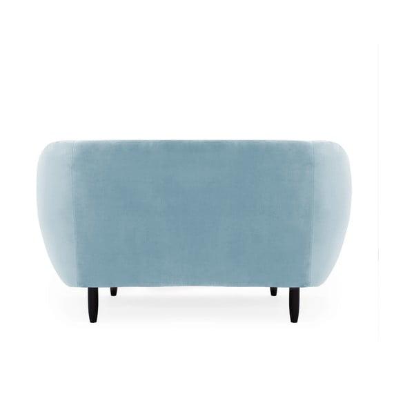 Canapea 2 locuri Vivonita Laurel, albastru deschis