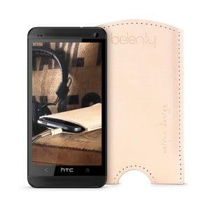Kožený obal na HTC One M7 Cream