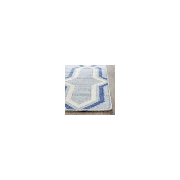 Vlněný koberec Aklim 152x243 cm, modrý