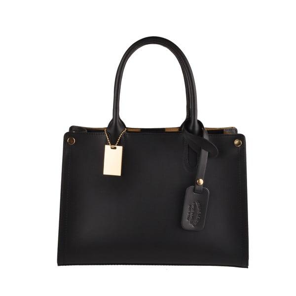 Černá kožená kabelka Florence Bags Manor