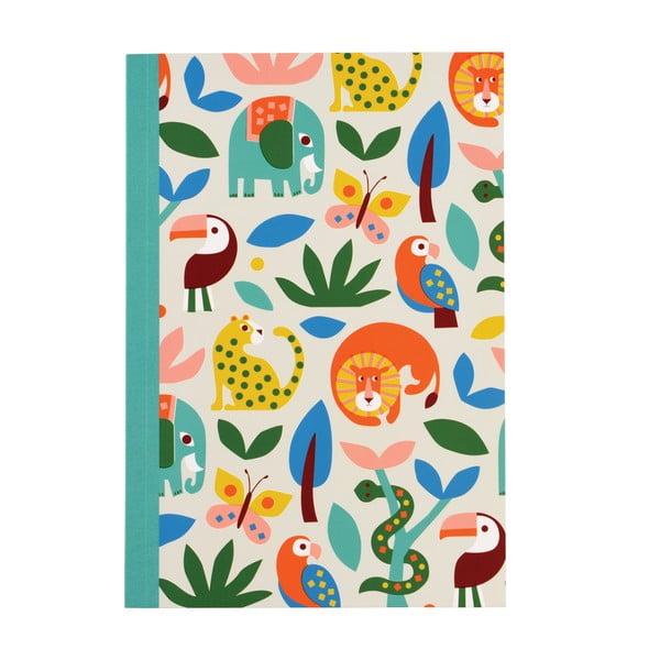 Zápisník sa zvieratkami vo formáte A5 linajkový Rex London, 60 strán