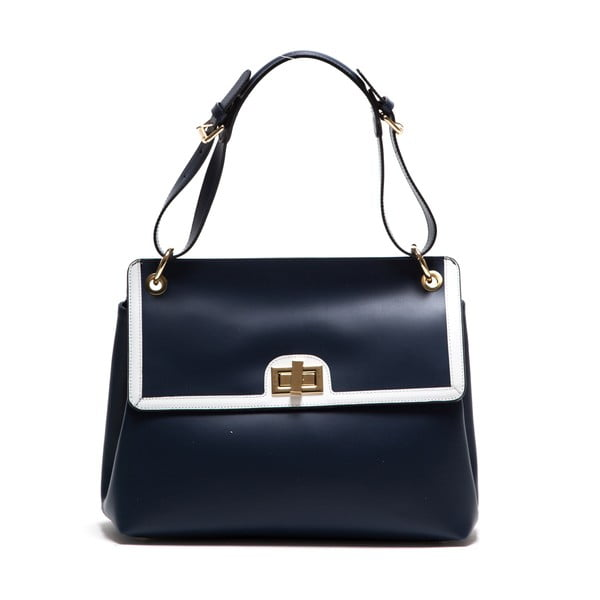 Modrá kožená kabelka Anna Luchini