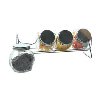 Suport condimente cu 4 recipiente JOCCA, ⌀ 8 cm imagine