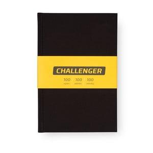 Černý motivační zápisník pro muže Bloque. Challenger
