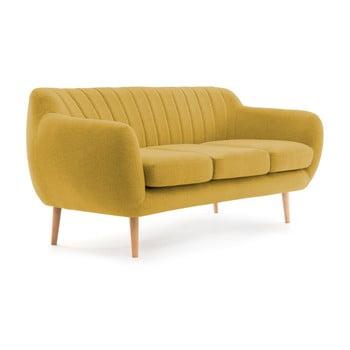 Canapea cu 3 locuri Vivonia Kennet galben