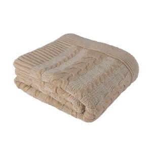 Béžová deka Homemania Totu, 170x130cm