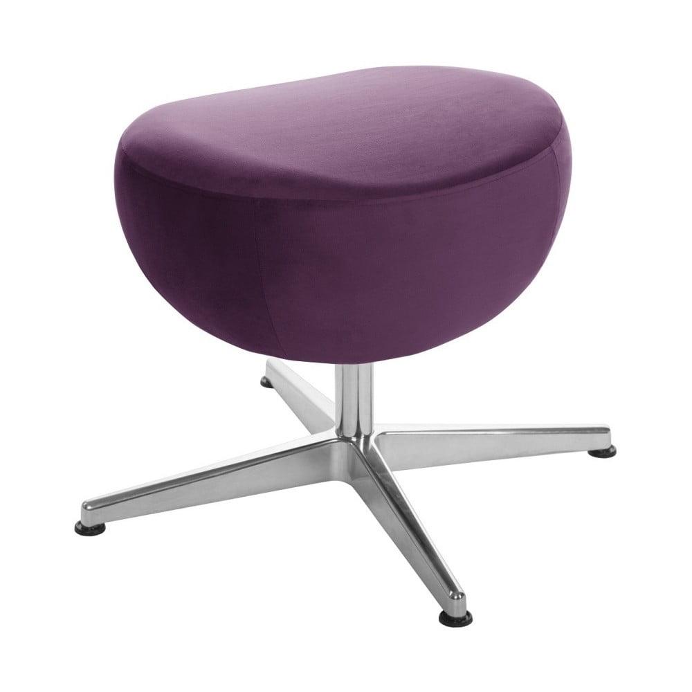 Fialová otočná stolička/podnožka My Pop Design Monory