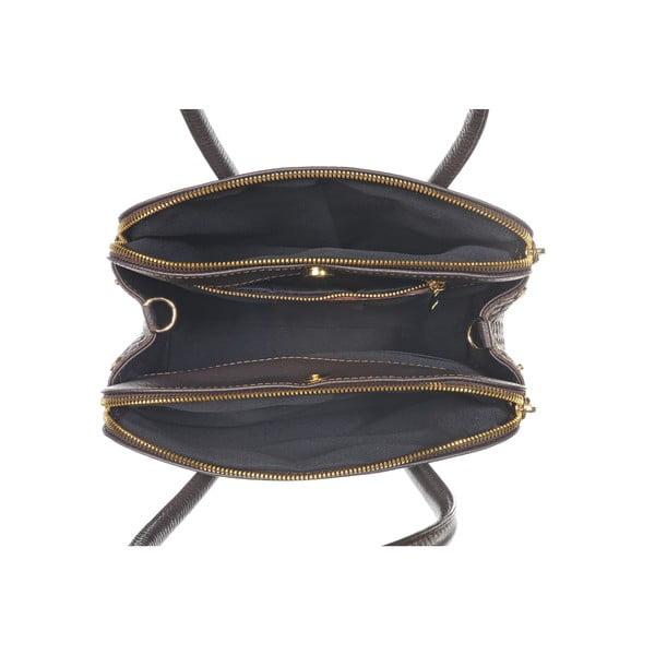Kožená kabelka Twist Dark Brown