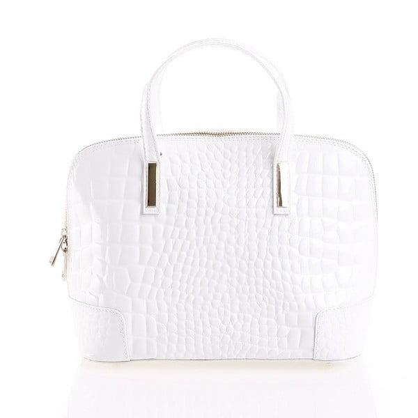 Kožená kabelka Jatany, bílá