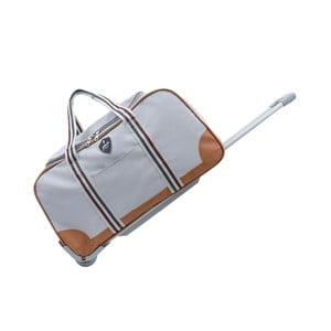 Světle šedá cestovní taška na kolečkách GENTLEMAN FARMER Sydney, 93 l