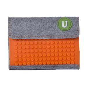 Pixelová peněženka grey/aqua orange