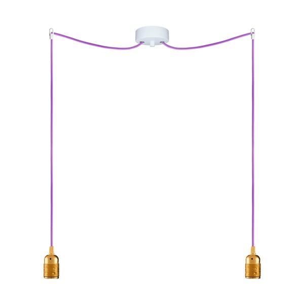 Dva závěsné kabely Uno, zlatá/fialová
