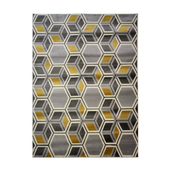 Cocktail Mimosa Grey Ochre szőnyeg, 160 x 230 cm - Flair Rugs