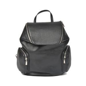 Černý kožený batoh Luisa Vannini Amedea