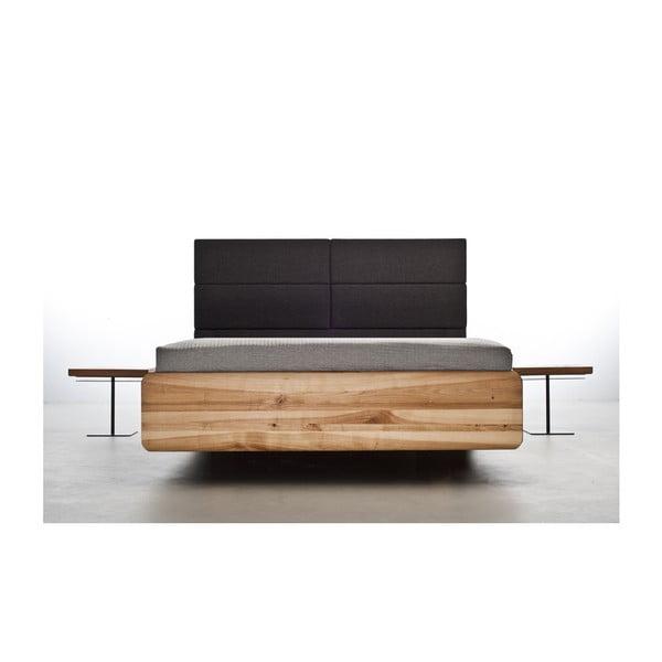 Postel z olejovaného jasanového dřeva Mazzivo Boxspring, 160x220cm