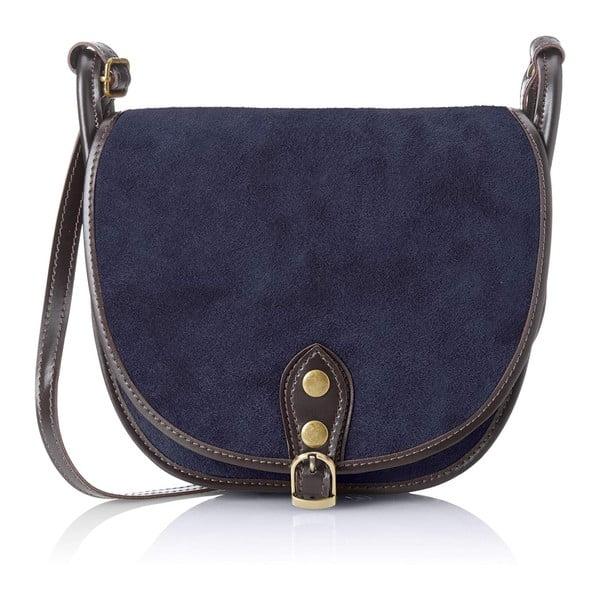 Tmavě modrá kožená kabelka Chicca Borse Mutro