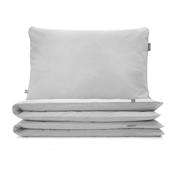 Popolavosivé detské bavlnené posteľné obliečky Mumla, 100×135 cm
