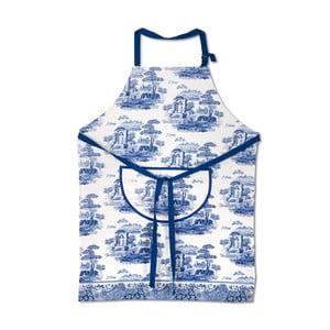Bílomodrá bavlněná kuchyňská zástěra Spode Blue Italian
