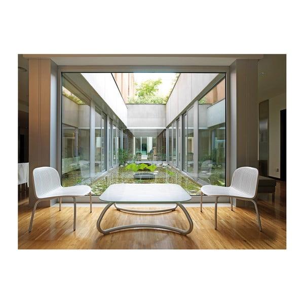 Stůl Loto Relax Bianco, bílý, 110x110