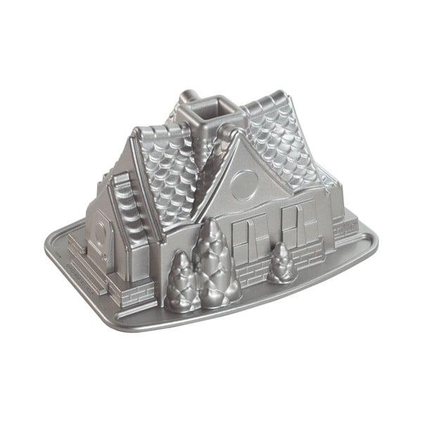 Formă de copt, Căsuță Nordic Ware, 2,1 l, argintiu