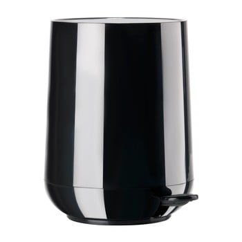 Coș de gunoi cu pedală Zone Nova Shine, 5 l, negru de la Zone
