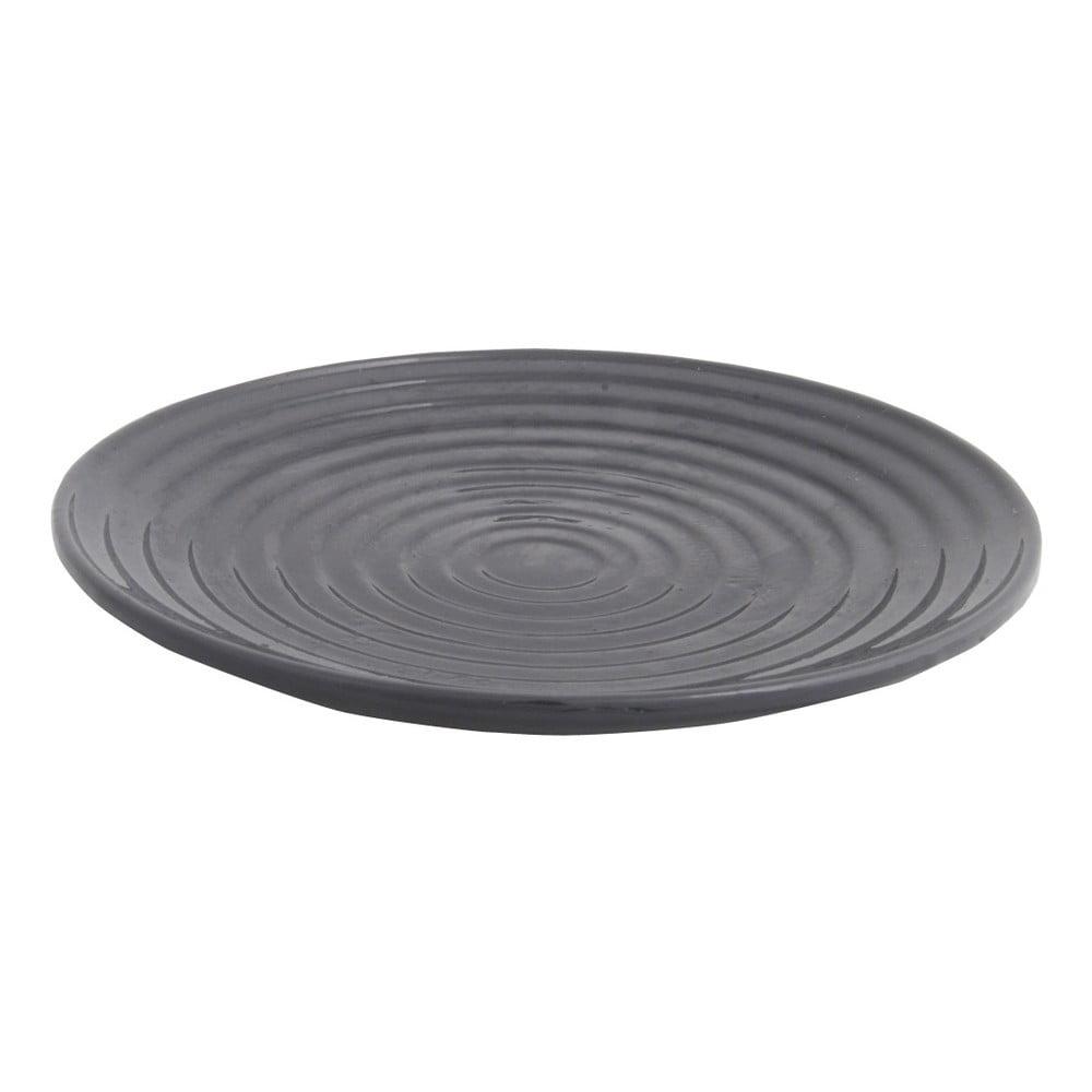 Šedá keramická koupací miska pro ptáky Esschert Design, ⌀ 27,4 cm