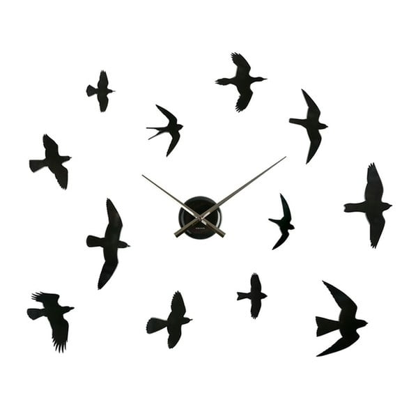 Hodiny DIY Birds, black