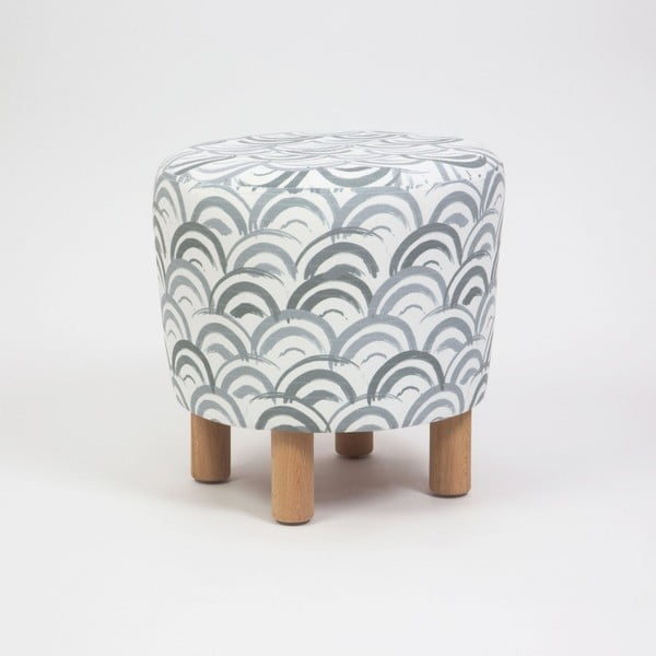 Taburet cu picioare din lemn Cono Mimar, ⌀ 41 cm