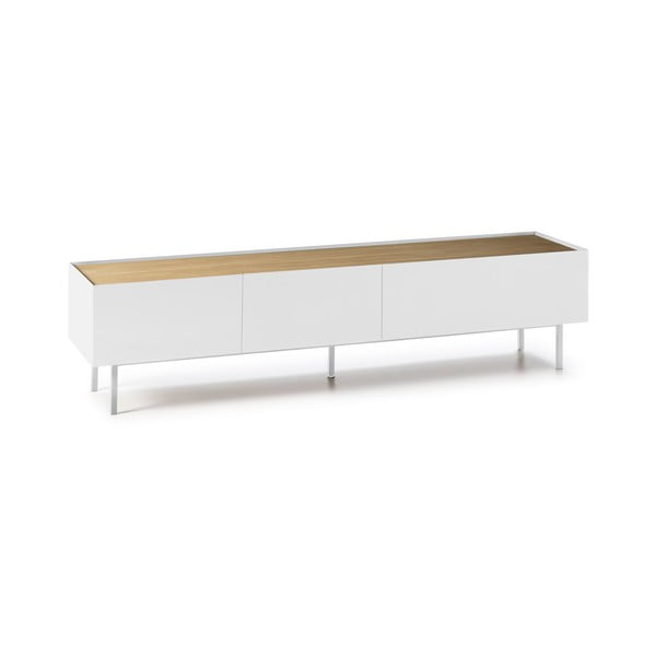 Bílý televizní stolek Teulat Arista