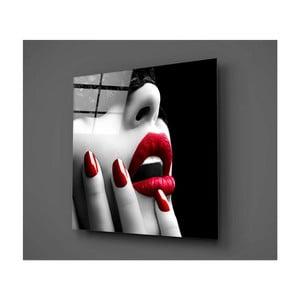 Skleněný obraz Insigne Lips Rojo Mento, 50 x 50 cm