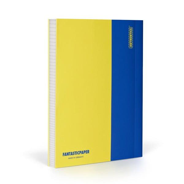 Zápisník FANTASTICPAPER A5 Lemon/Blue, čtverečkový