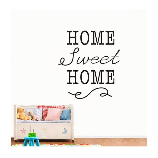 Dekorativní samolepka Home Sweet Home, 40x35 cm