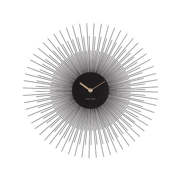 Ceas de perete Karlsson Peony, negru, ø 45 cm