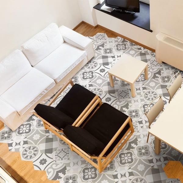 Set 10 autocolante impermeabile pentru podea Ambiance Adamo, 20 x 18 cm