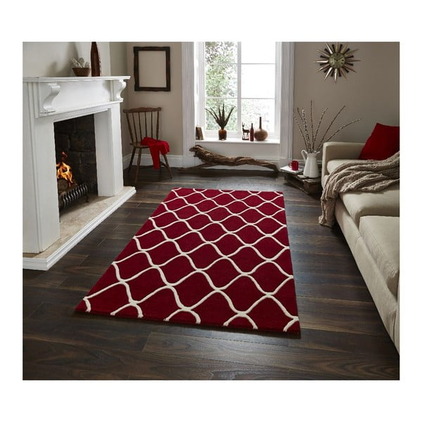 Vlněný koberec Elements Red, 120x170 cm
