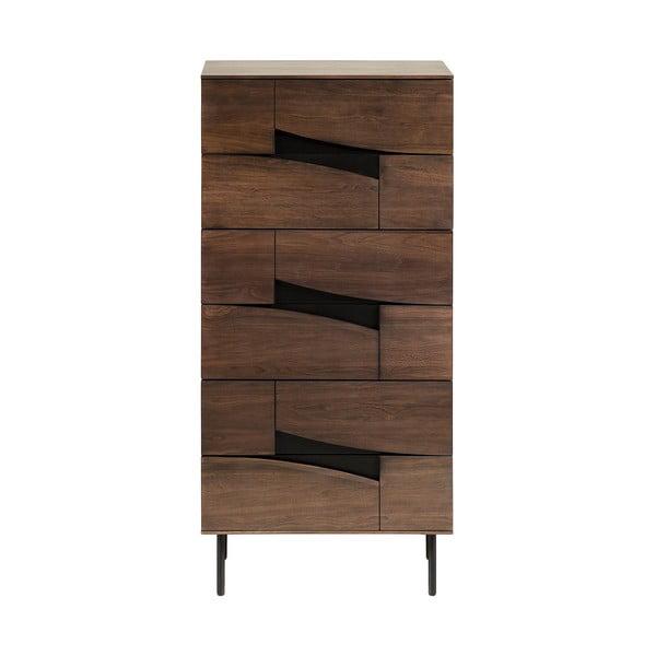Hnědá skříňka se šuplíky, La Forma Cutt, 60 x 40 cm